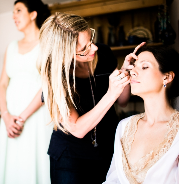 Glamorous wedding hair and makeup