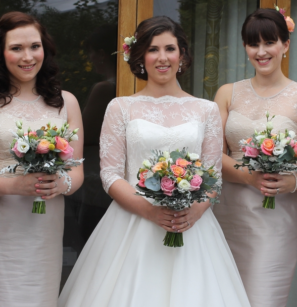 Claire Nicole hair and makeup and La Belle wedding flowers